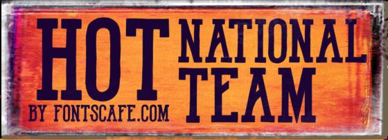 """Hot National Team"" font"