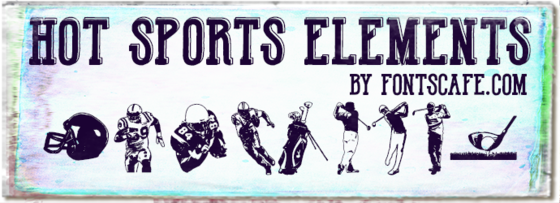 """Hot Sports Elements"" font"