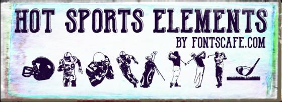 """""""Hot Sports Elements"""" font"""
