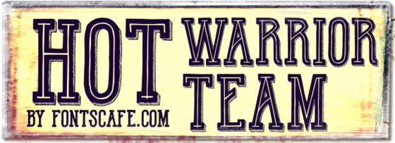 """Hot Warrior Team"" font"