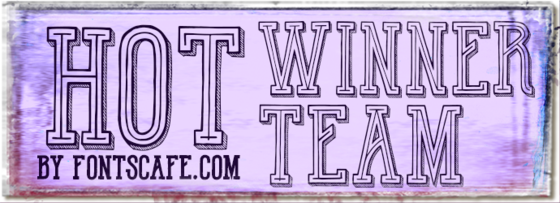 """Hot Winner Team"" font"