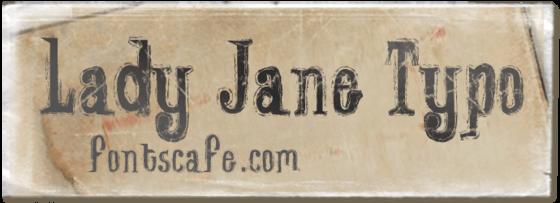 """Lady Jane Typo"" font_typography"