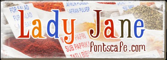 """Lady Jane"" font_typography"