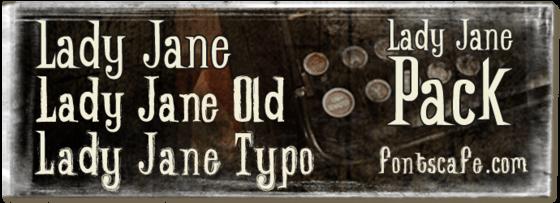 """Lady Jane pack"" fonts image"
