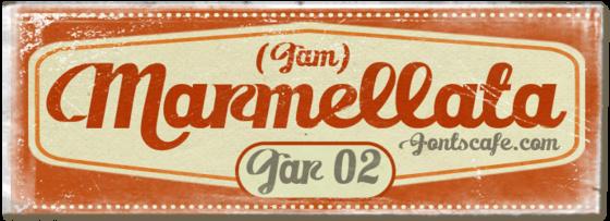 """Marmellata (Jam) Jar 02"" font"