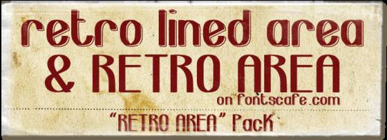 """""""Retro Area pack"""" font"""