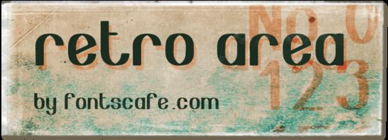 """Retro area"" font"