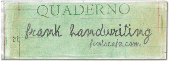 """frank handwriting"" font"