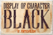 Display Of Character Black Example 1