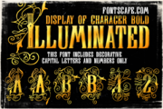 Display Of Character illuminated first example