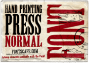 """Hand Printing Press Normal"" font"