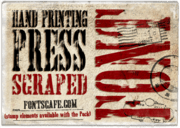 """Hand Printing Press Scraped"" font"