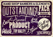 """Hand Shop Banners & Elements Pack"" fonts"