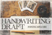 """Handwriting draft"" font use 1"