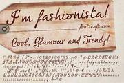 """I'm fashionista!"" font 01"