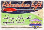 """Retroactive light"" font"