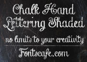 """Chalk Hand Lettering Shaded"" font"