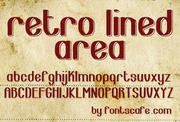 """Retro Lined Area"" font"