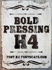 """Bold Pressing H4"" font"