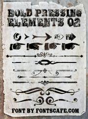 """Bold Pressing Elements 02"" font"