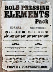 """Bold Pressing Elements Pack"" fonts"