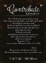 """Contribute"" font use 2"