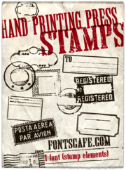 """Hand Printing Press Stamps"" font"