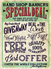 """Hand Shop Banners"" font"