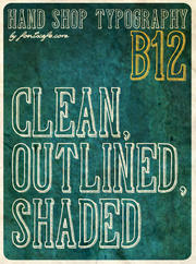 """Hand Shop Typography B12"" font"