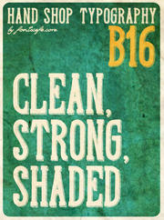 """Hand Shop Typography B16"" font"