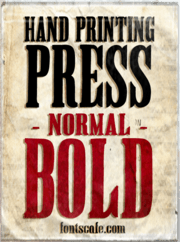 """Hand Printing Press Normal Bold"" font"