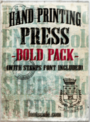 """Hand Printing Press Pack Bold"" fonts"