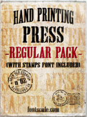 """Hand Printing Press Regular Pack"" fonts"