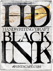 Handwriting Draft Black