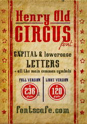 """Henry Old Circus"" font 02"