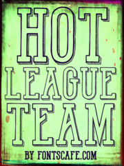 """Hot League Team"" font example"