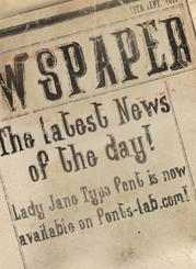 """Lady Jane Typo"" font typography use 2"