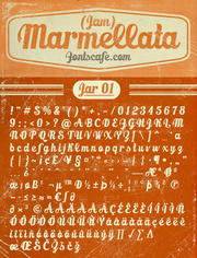 """Marmellata (Jam) Jar 01"" font"