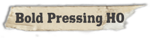 """Bold Pressing H0"" font"