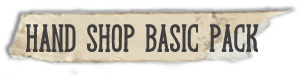 """Hand Shop Basic Pack"" fonts"