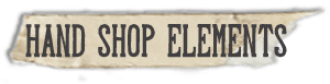 """Hand Shop Elements"" font"