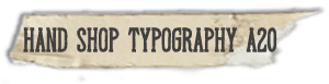 """""""Hand Shop Typography A20"""" font"""