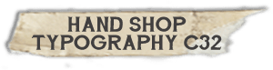 """Hand Shop Typography C32"" font"