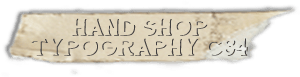 """Hand Shop Typography C34"" font"