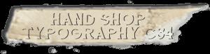 """Hand Shop Typography C34"" font"