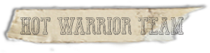 """Hot Warrior Team"" font tape"
