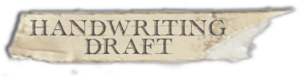 """Handwriting draft"" font tape"